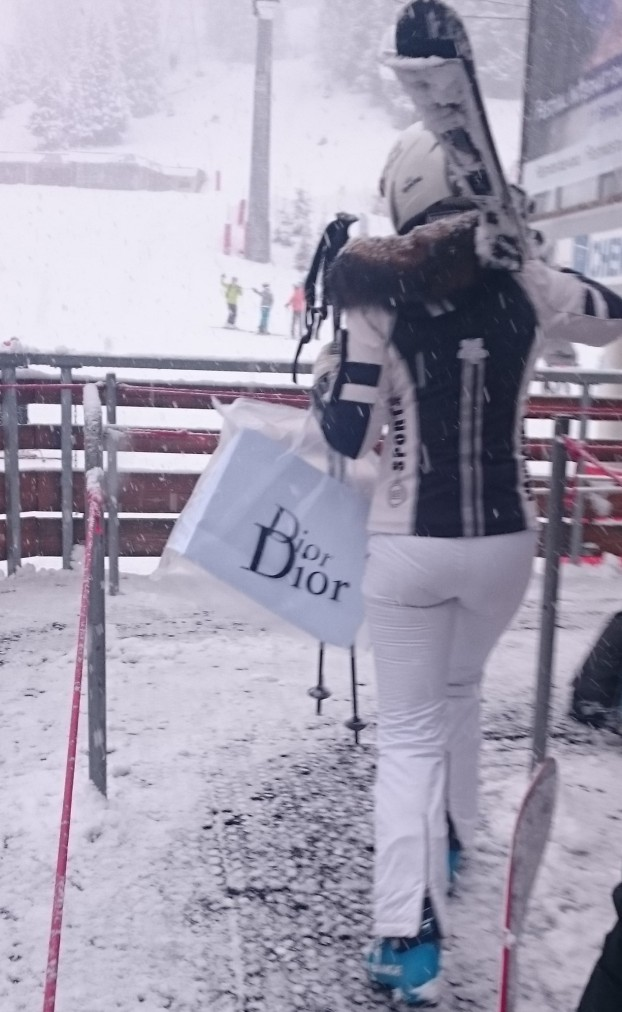 When you're out skiing and you just HAVE to stop for some Dior...